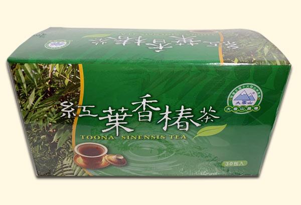 紅葉香椿茶外包裝